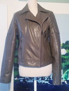 NWOT CI SONO BROWN LEATHER JACKET